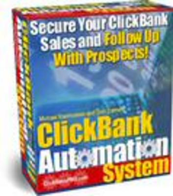 Product picture Clickbank Automation System